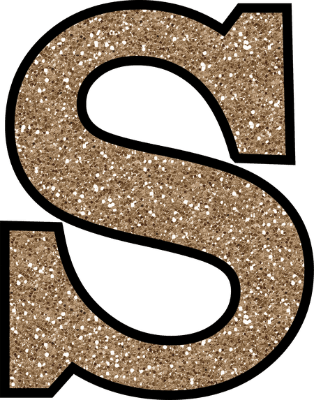 The letter s png. Free glitter alphabet to
