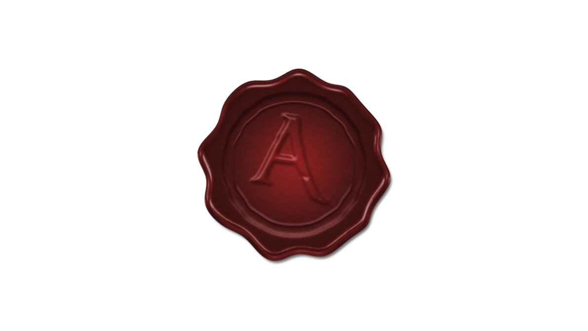 Wax seal stamp png letters. A by imrahilxbattousai on