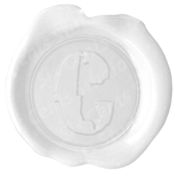 Wax seal stamp png letters. Ws olde english letter