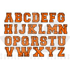 Letters clipart basketball. Digital cut files numbers