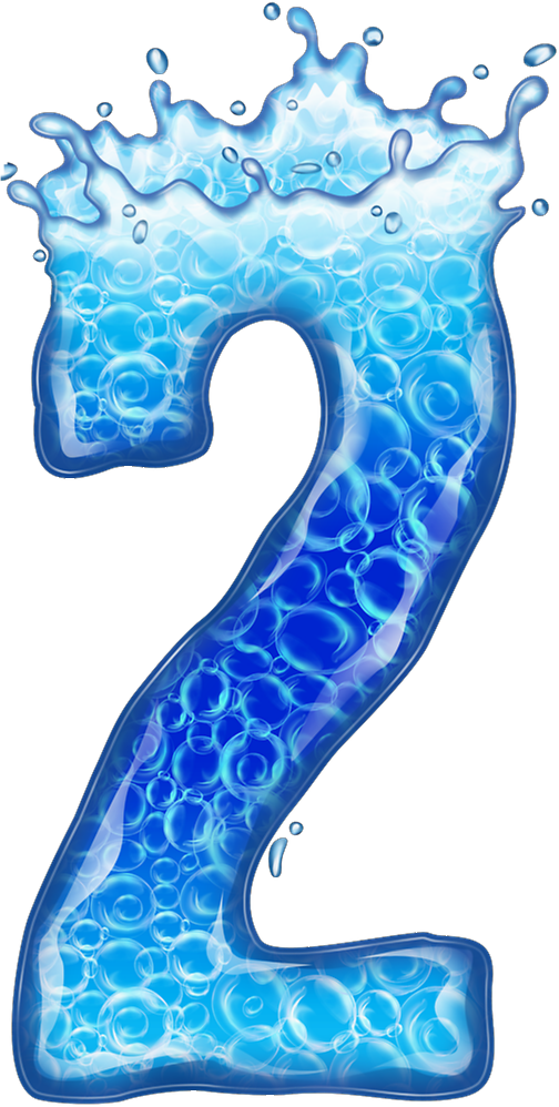 Letters clipart water. Png numbers alphabet