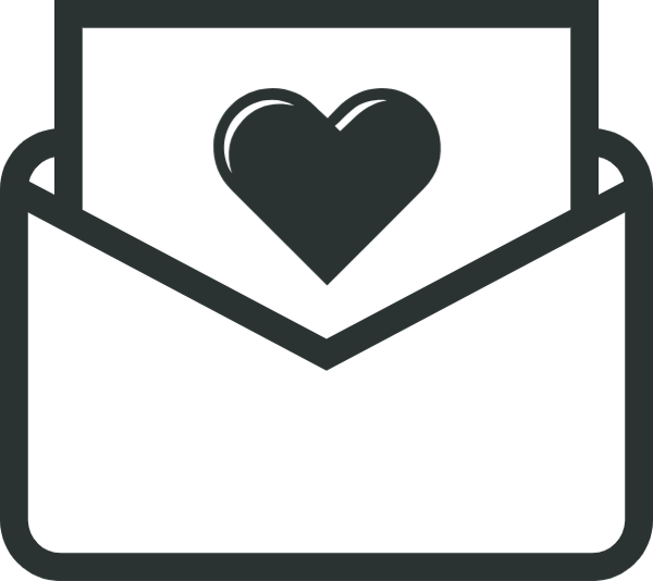 Vector envelope heart. Free online envelopes wedding