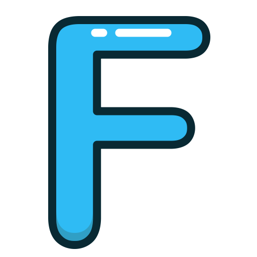 Blue letter f png. Letters and numbers by
