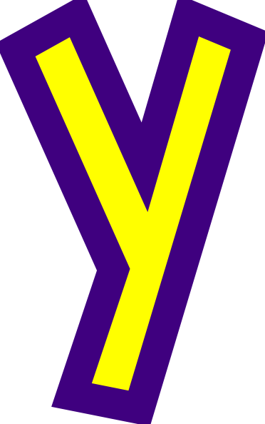 Letters vector pop art. Letter y clip at