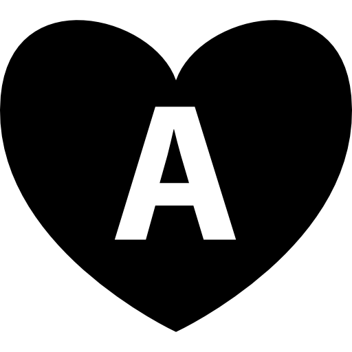 Letters vector stylish. Heart with letter a
