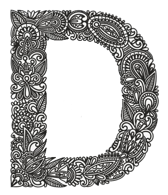 Letters vector zentangle. Ch b alphabets sets