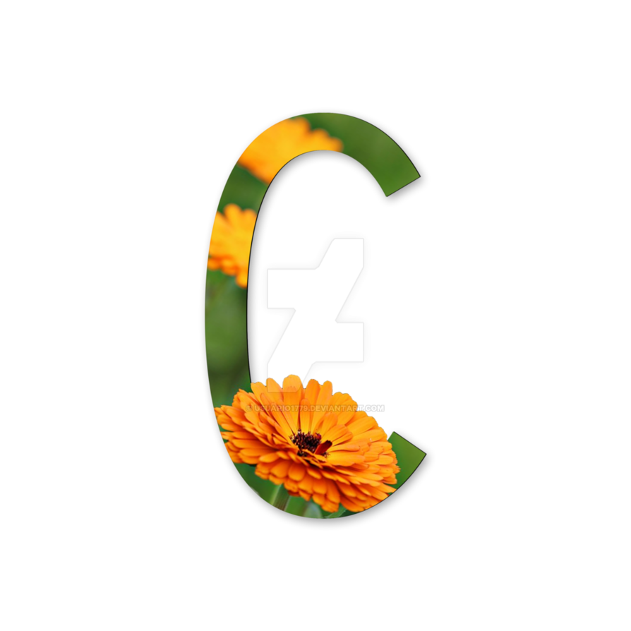 Letters with flowers png. Flower letter c clipart