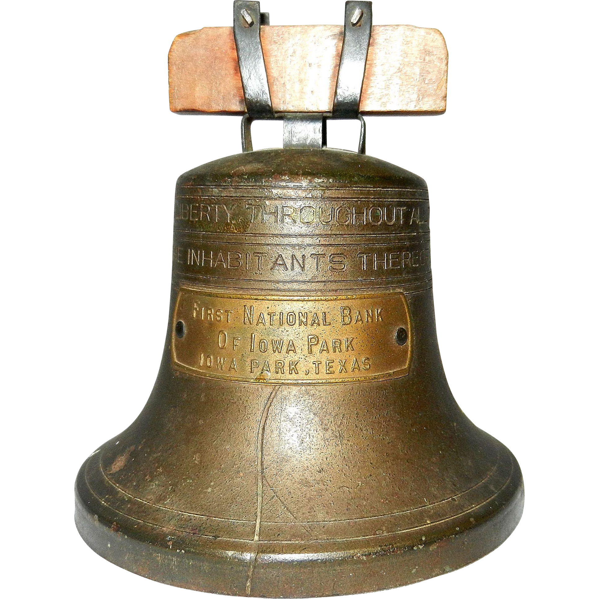 Liberty bell logo png. Vintage bank by bankers