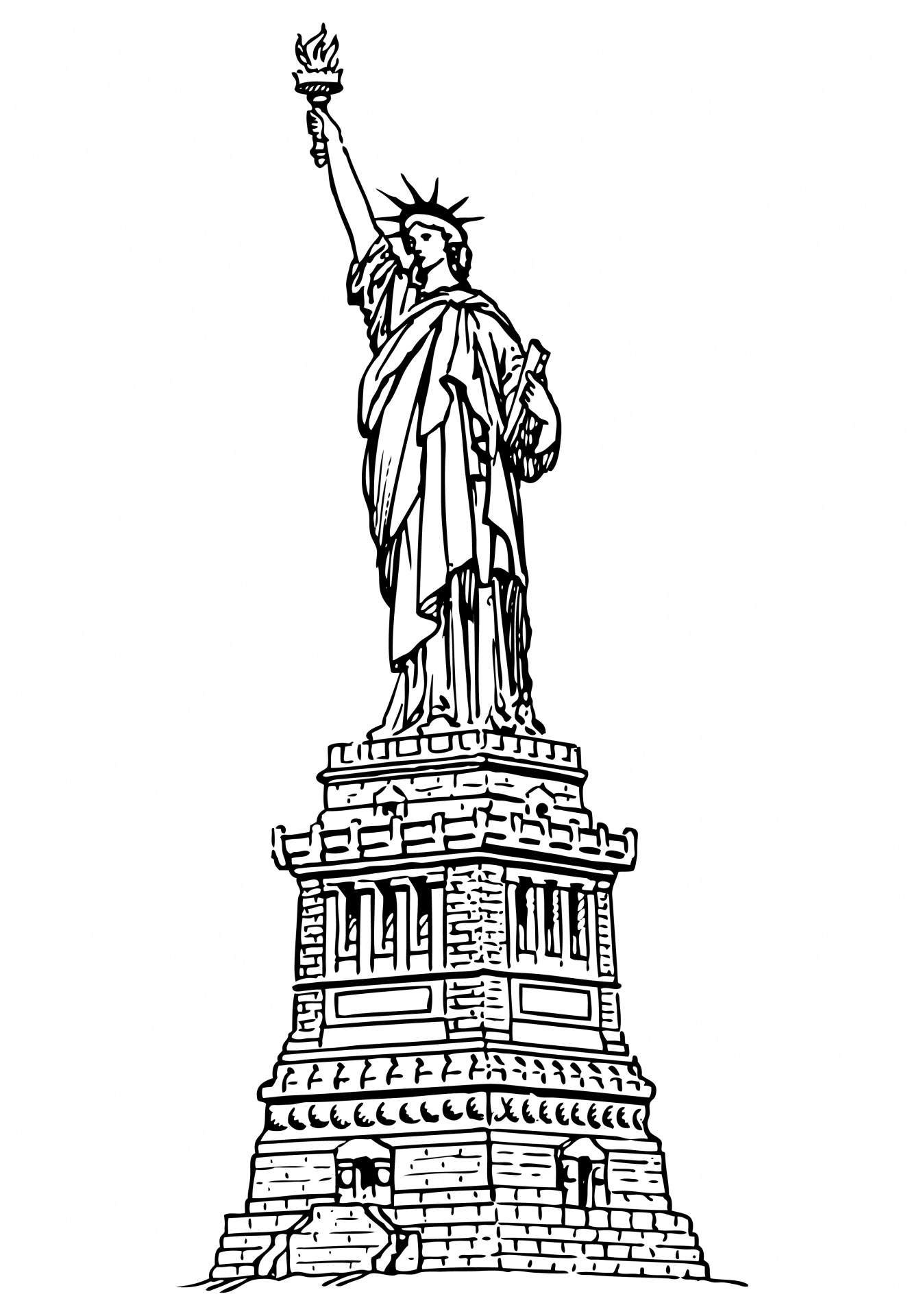 Liberty clipart. Statue of free stock