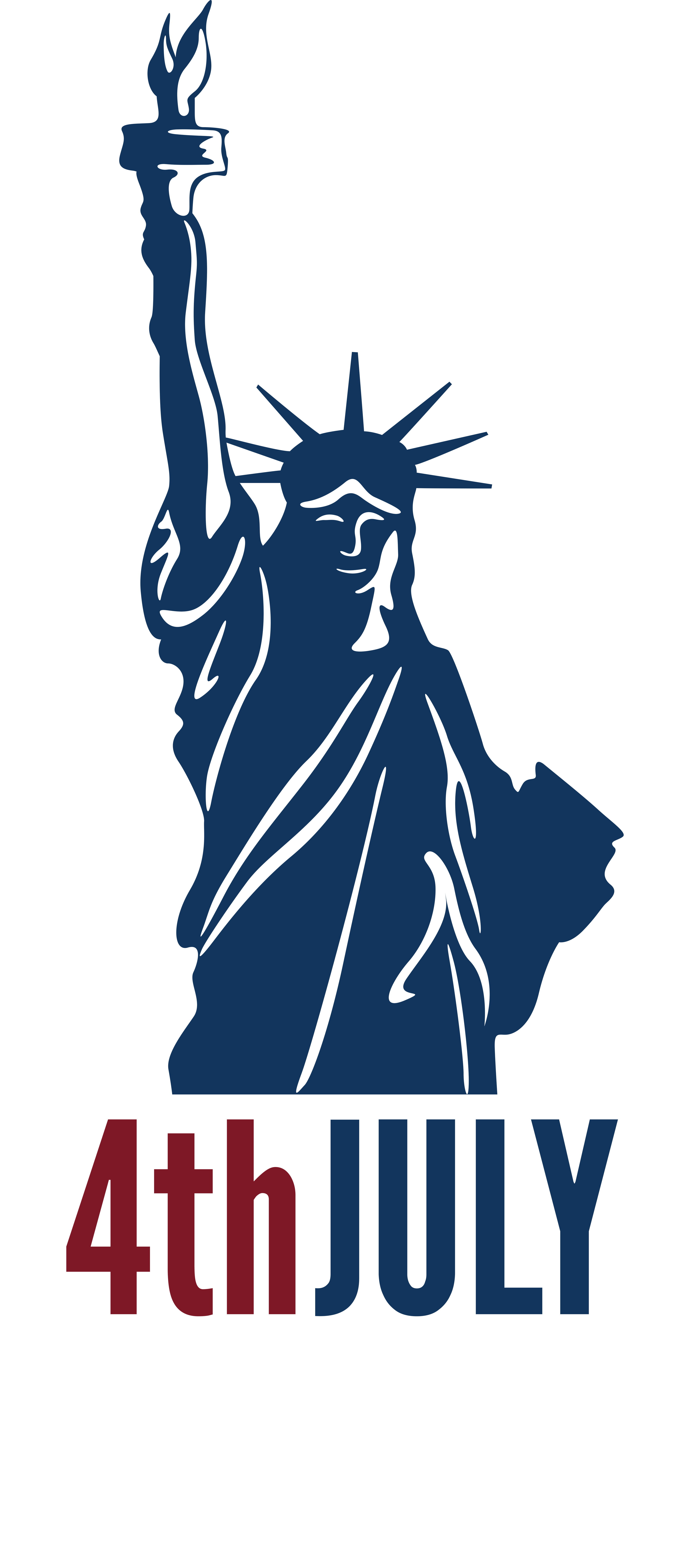 Liberty clipart 4th july. Th independence day