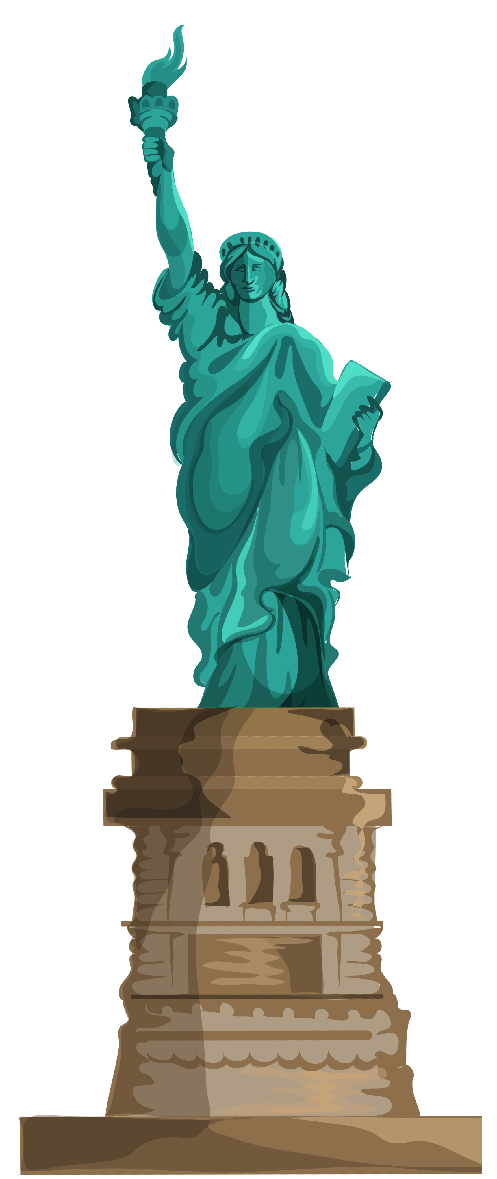 Liberty clipart clear. Figurine background pencil and