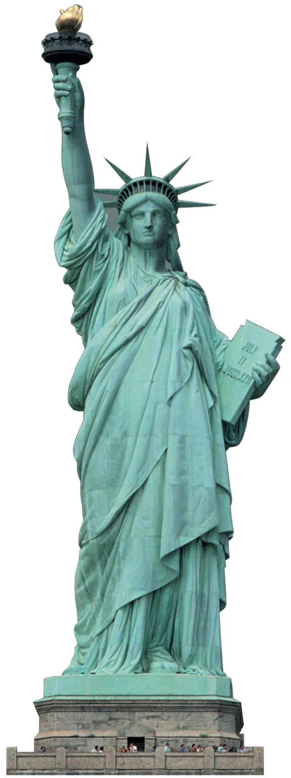 Liberty clipart clear. Statue of png transparent