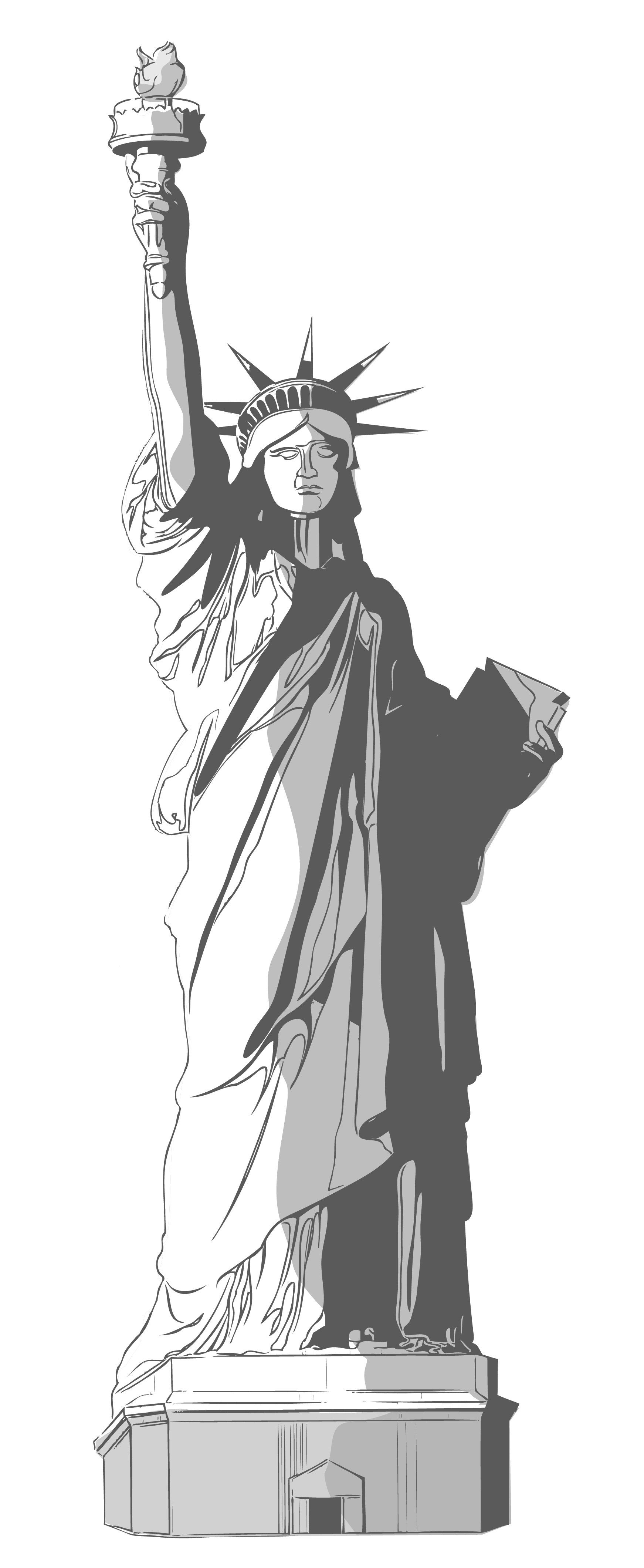 Liberty clipart clear. Statue of transparent pencil