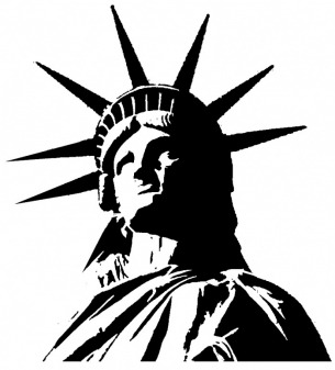 Liberty clipart statue libery. Of silhouette at getdrawings