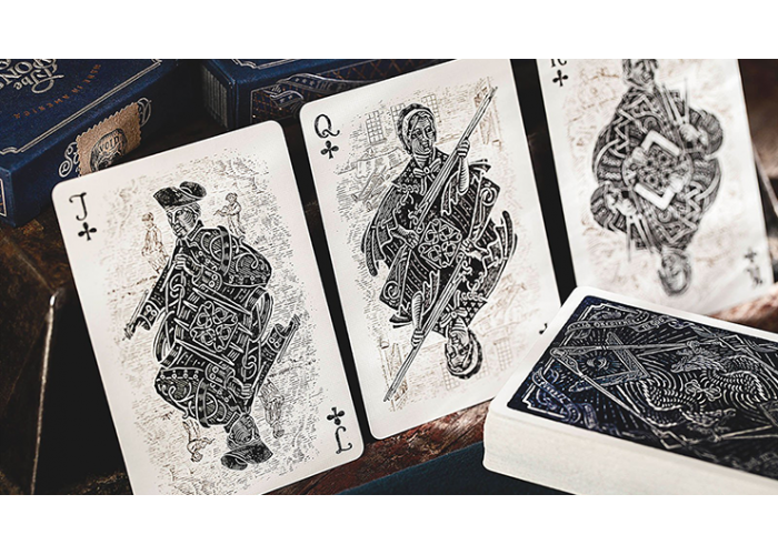 Liberty drawing pattern. Sons of playing cards