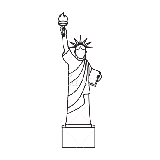 It's just an image of Printable Statue of Liberty Template regarding large