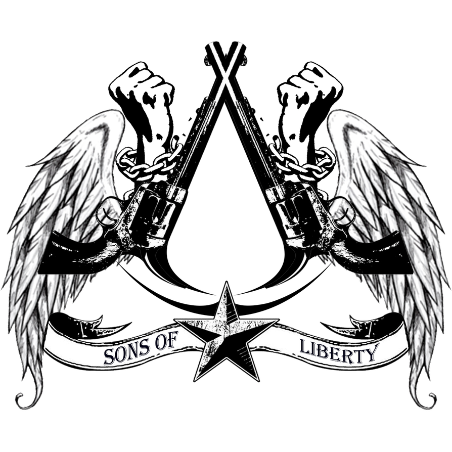 Liberty drawing logo. Crew sons of by