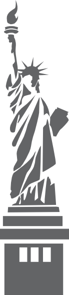 Liberty drawing outline. Statue of clip art
