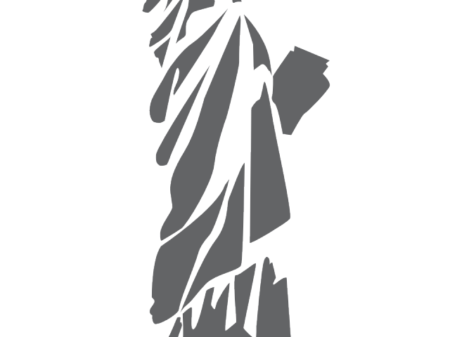 Liberty drawing outline. Statue of x carwad