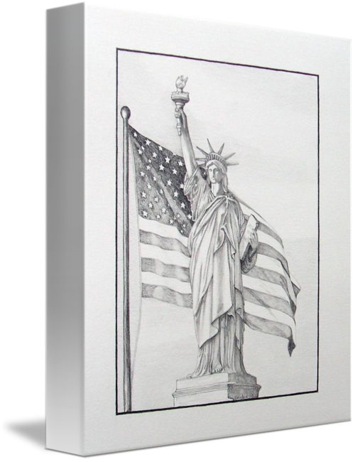 Liberty drawing person. By brandy house