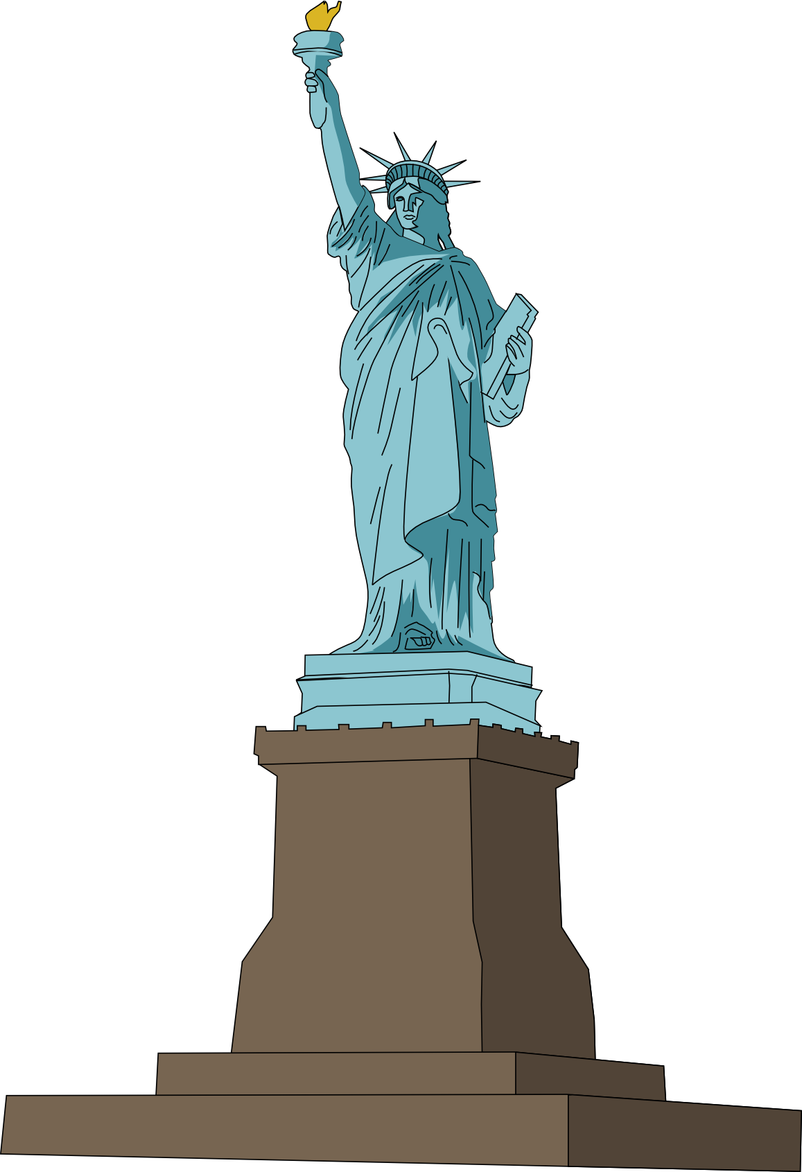Liberty statue clipart png. Collection of high
