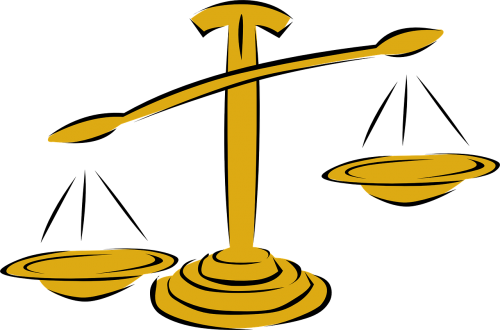 Libra vector old scale. Zodiac sign symbol astrology