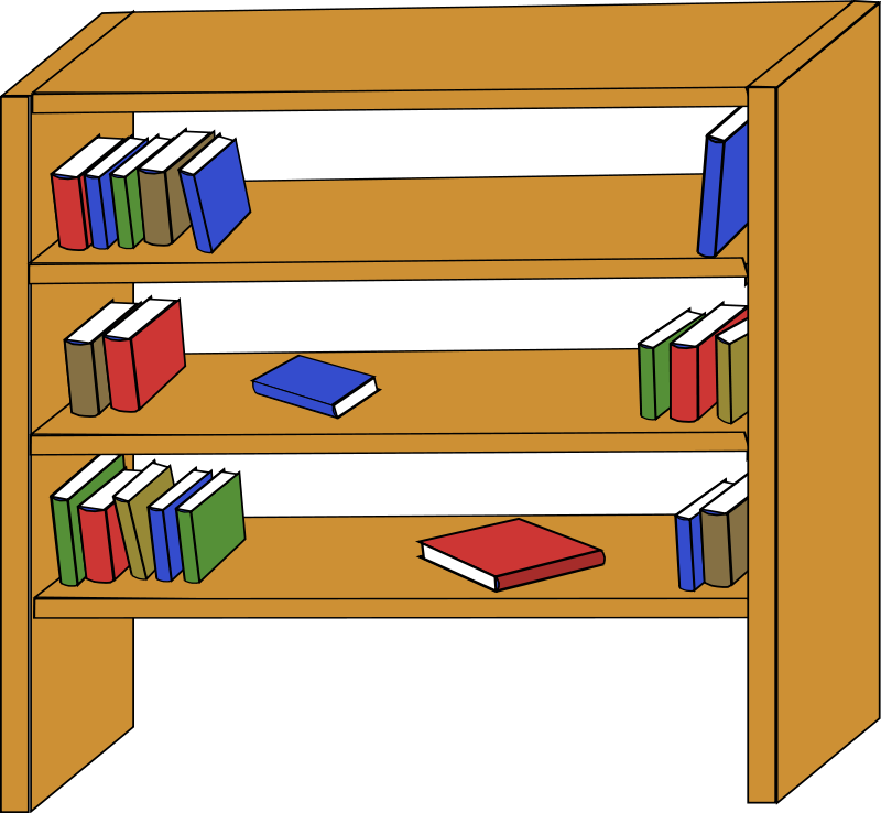 Librarian clipart book rack. Library bookshelf panda free