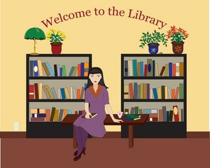 Librarian clipart library book. Free image in the