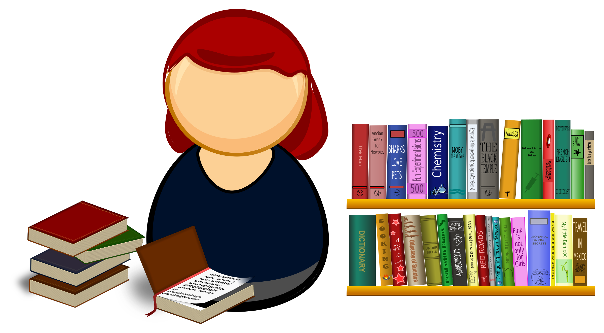Librarian clipart library book. Picture of free clip