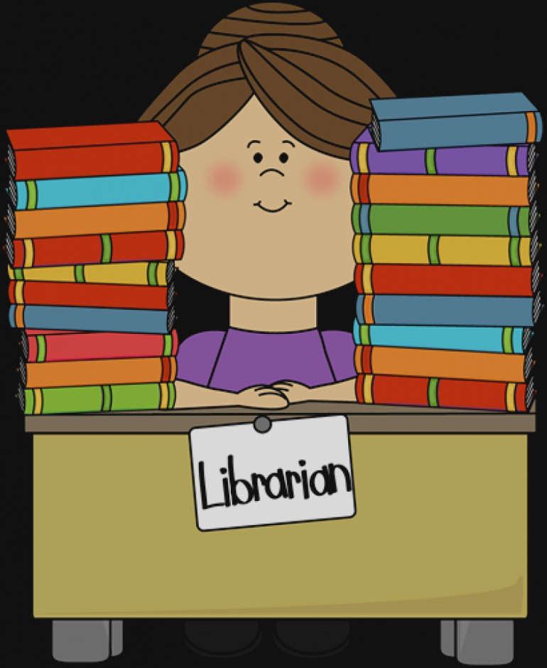 Librarian clipart library book. Collection of clip art