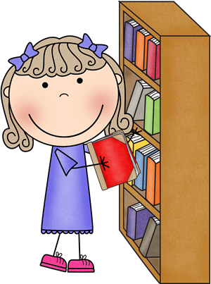 Library clipart cute. Staff librarian