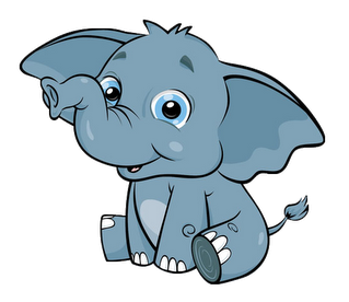 Library clipart cute. Baby elephant png license