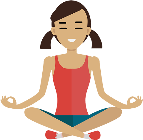 Library clipart cute. Download banner meditation meditate
