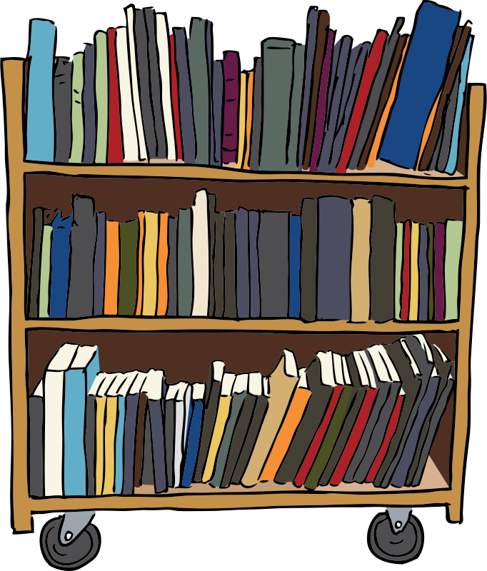Cart drawing clip art. Library books at getdrawings