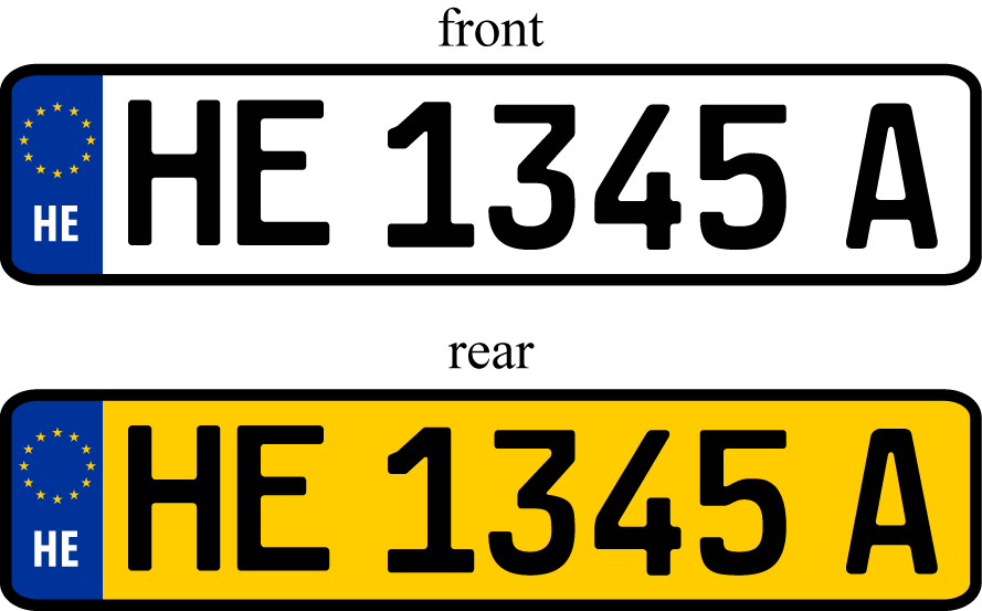 Number plate png
