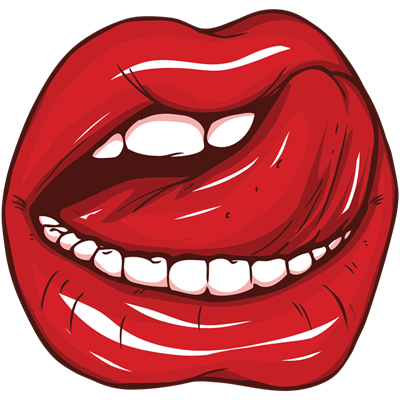Licking tongue png. Lips stickers signs whee