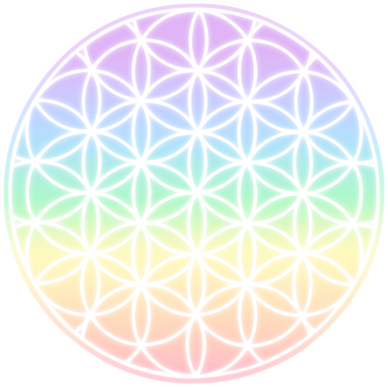 Life clipart life symbol. Rainbow flower of free