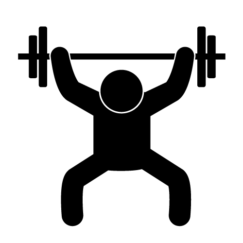 Lifting clipart fitness. Weight silhouette clip art
