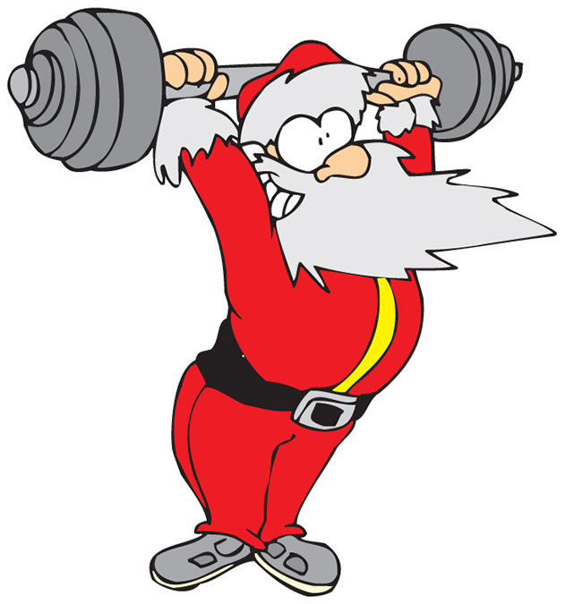 Lifting clipart fitness. Ch santa weight shore