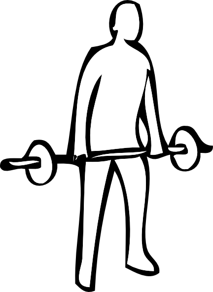 Weightlifter drawing olympic weightlifting. Weight lifting clip art