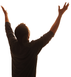 Worship hands png. Woman praising god clipart