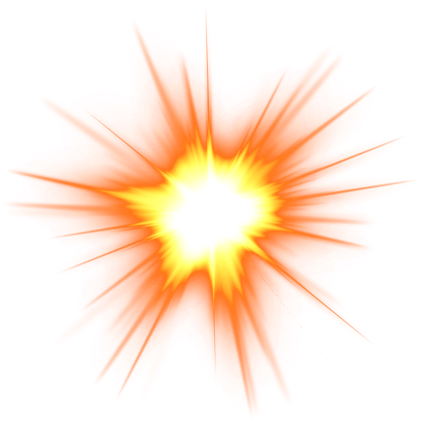 transparent burst orange