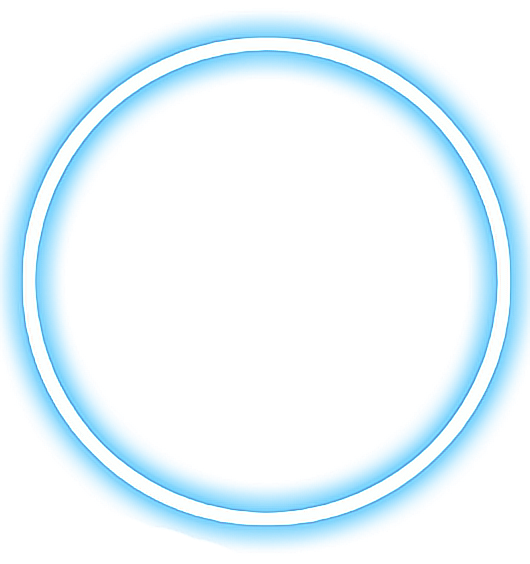 Neon circle png. Ftestickers light blue danial