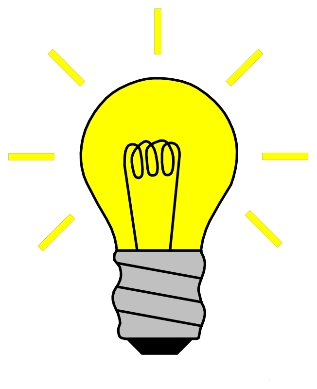 Idea lightbulb png. Light bulb clip art