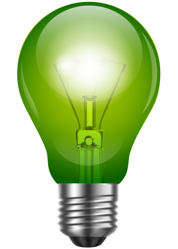Green light bulb clip. Lightbulb png picture transparent library