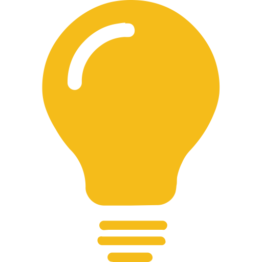 Light bulb on off png. Yellow icon with and