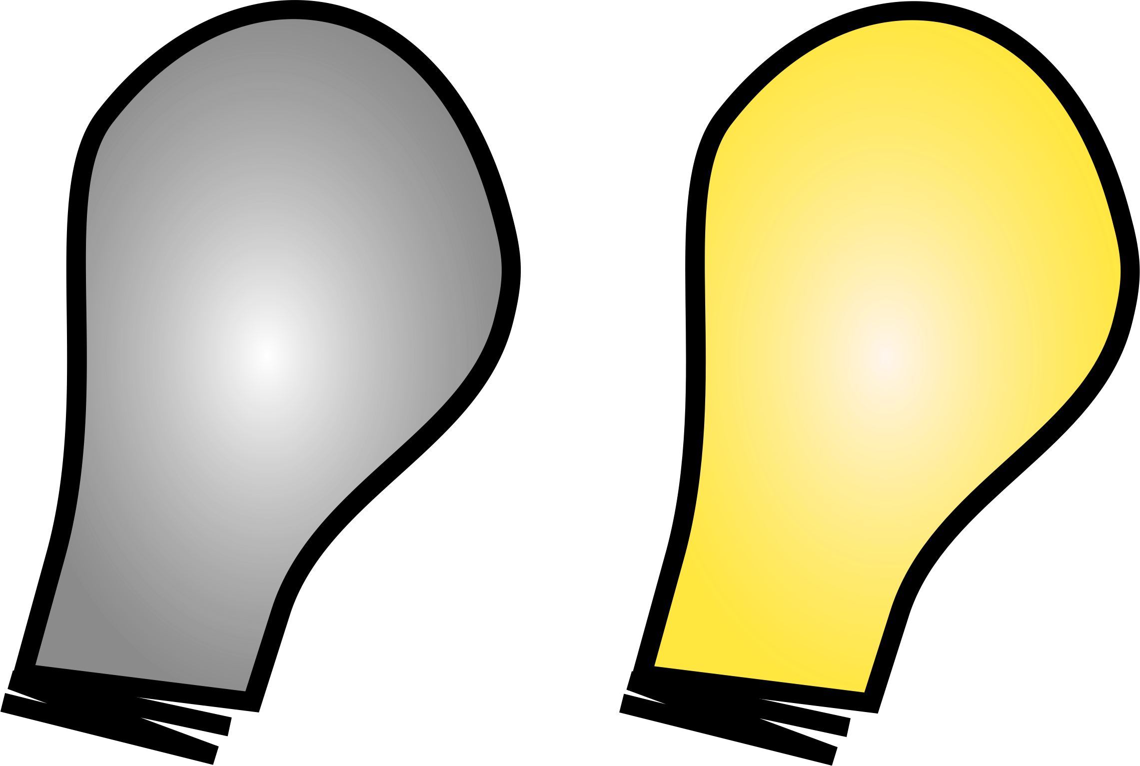Light bulb on off png. Simple icons free and