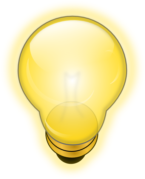 Light bulb on off png. Glowing clip art at