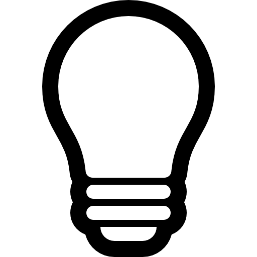 Light bulb outline png. Free tools and utensils