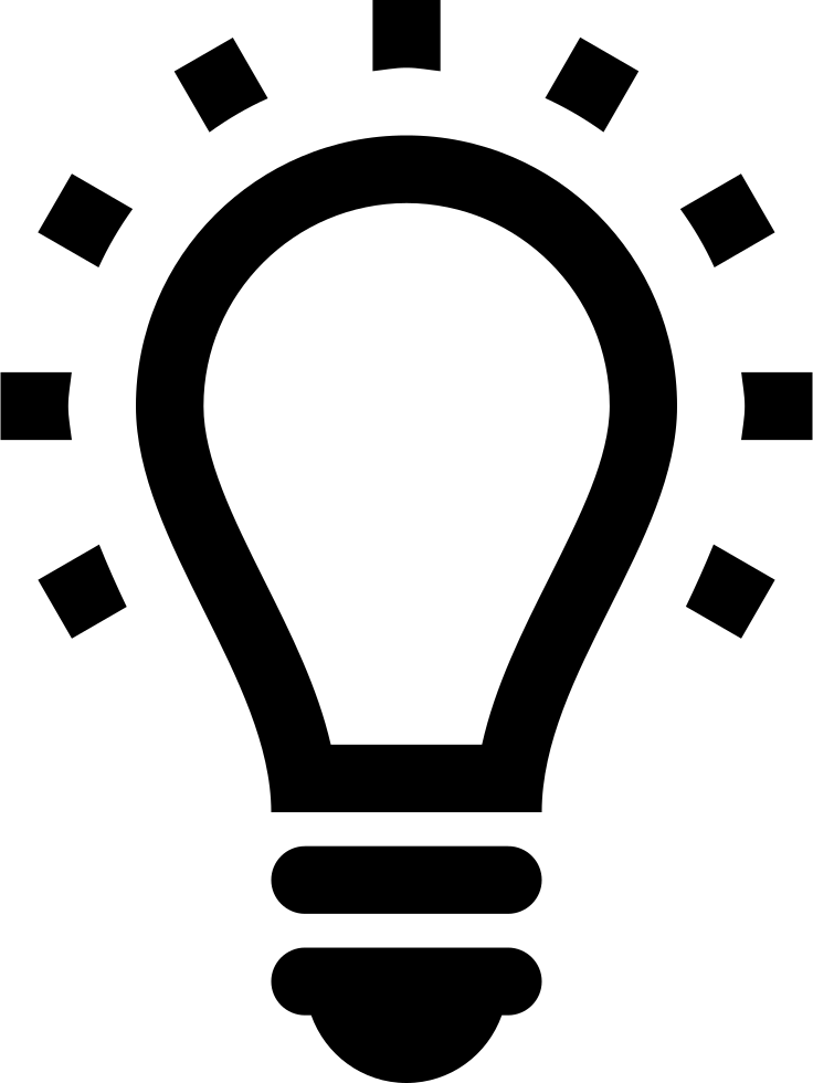 Light bulb png icon. Lightbulb svg free download